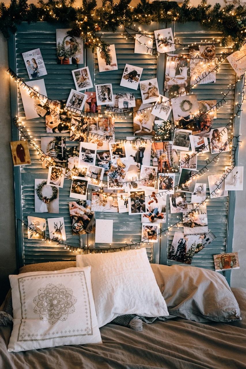 festive atmosphere in cozy room